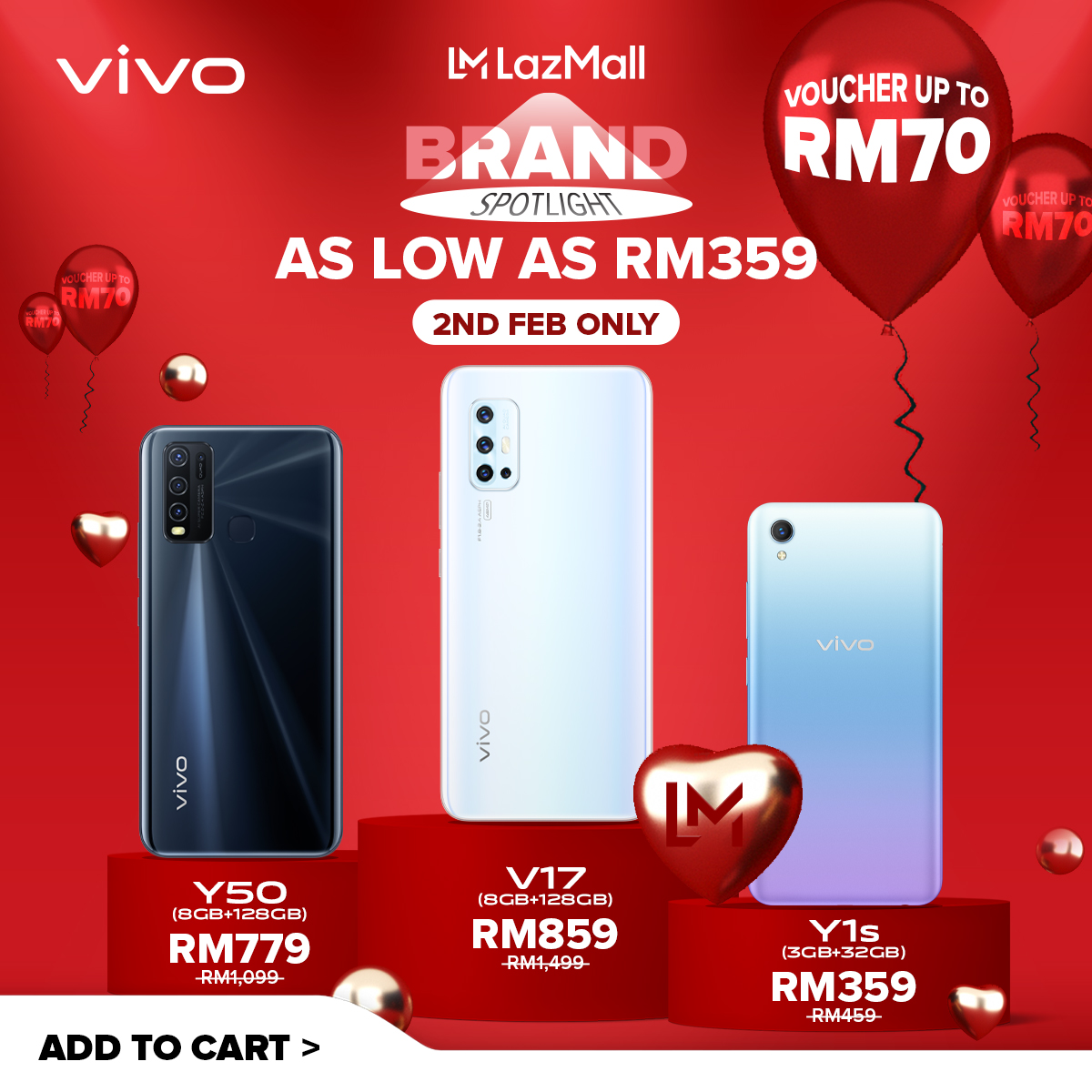 vivo x LazMall Brand Spotlight Offering Exciting 1-Day Sale on 2 February