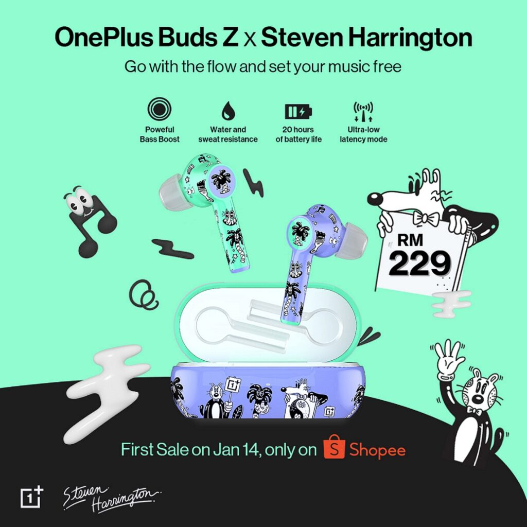 'Ear-Catching' Steven Harrington Edition of OnePlus Buds Z is Coming to Malaysia