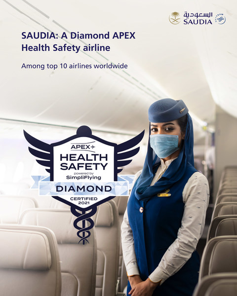 Saudia Receives Diamond Status For Flight Health Safety (PRNewsfoto/Saudi Arabian Airlines