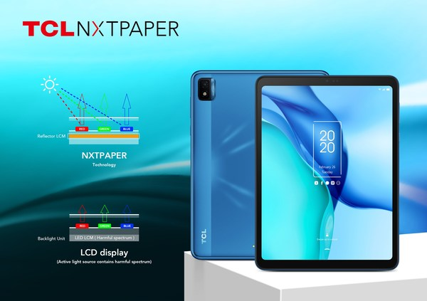 TCL's new NXTPAPER and TAB tablets deliver exceptional value in education and entertainment at CES 2021
