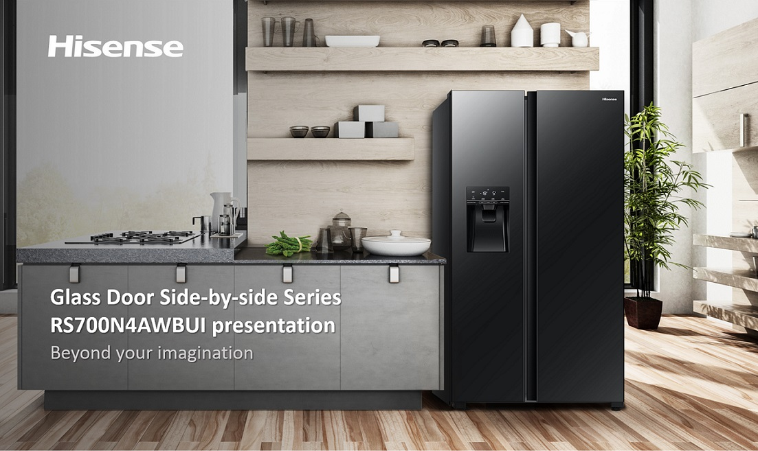 Stay Cool With Hisense Side-By-Side Inverter Refrigerator