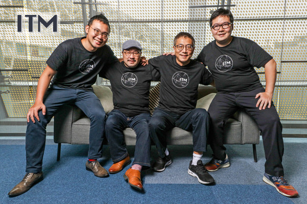 ITM core team. From right to left R&D Director Swanky Hsiao, Chief Scientist & Co-Founder Gwan-Hwan Hwang, CEO & Co-Founder Julian Chen, BD Director Cooper Lai.