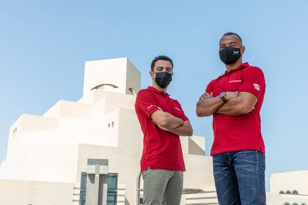 Football greats Cafu and Xavi soaked up the sights of Qatar during FIFA Club World Cup Qatar 2020™