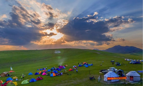 The beautiful Horqin Grassland lies in eastern Inner Mongolia autonomous region of China. [Photo/China SCIO]