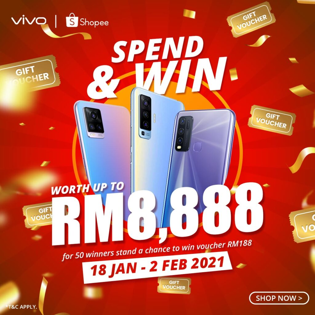 vivo Celebrates Shopee 2.2 Chinese New Year Sale Giveaway a V19 Smartphone and Vouchers Up to RM188