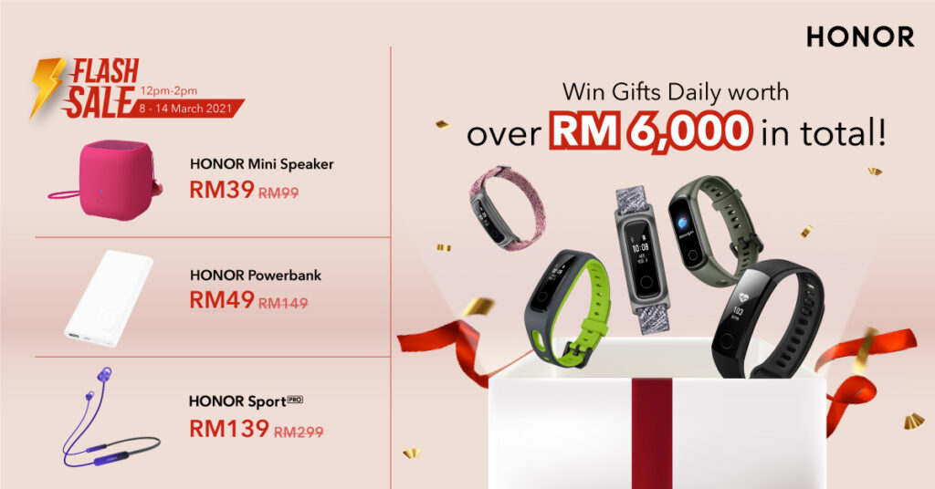Get up to RM 300 off with the HONOR Marchvelous Sale