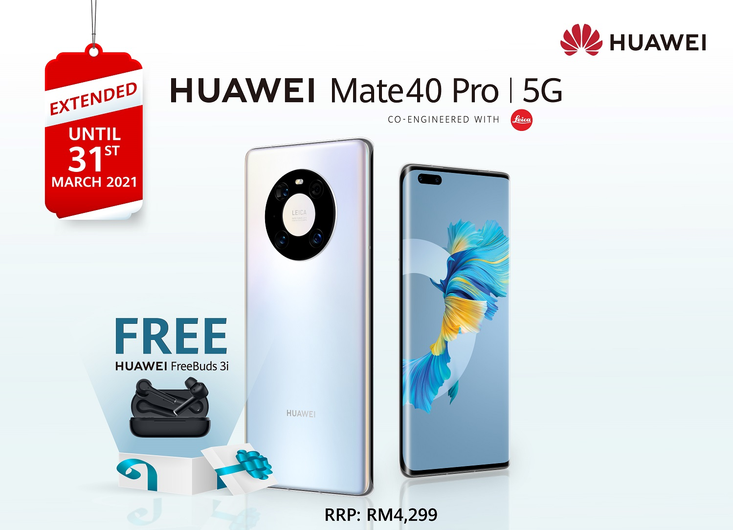 Get The HUAWEI Freebuds 3i For FREE With Every Purchase Of HUAWEI Mate40 Pro