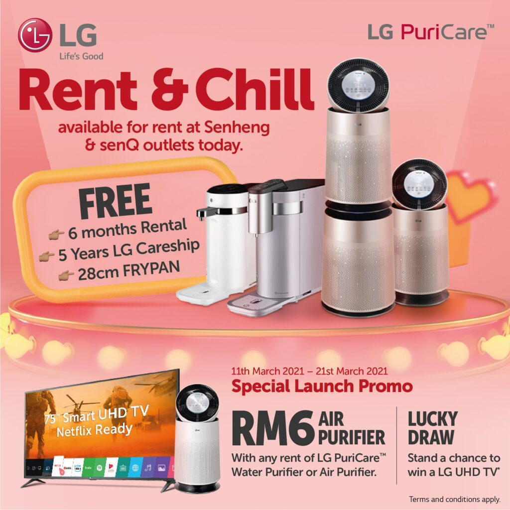 Drink Cleaner, Breathe Better: With LG Electronics and Senheng's Rent and Chill