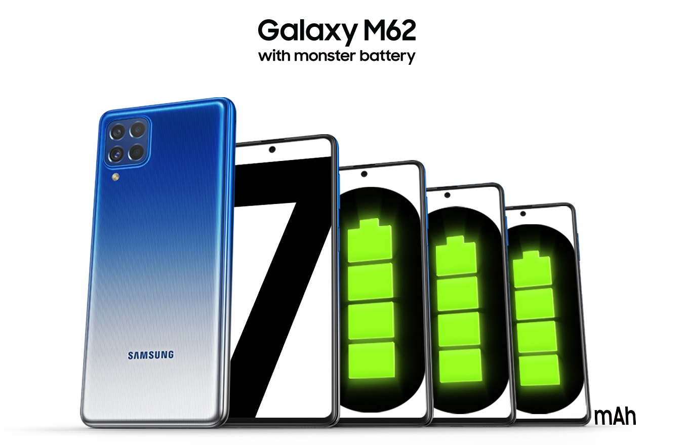 Samsung Launches the Galaxy M62 in Malaysia with 7,000mAh Battery and Powerful Processor
