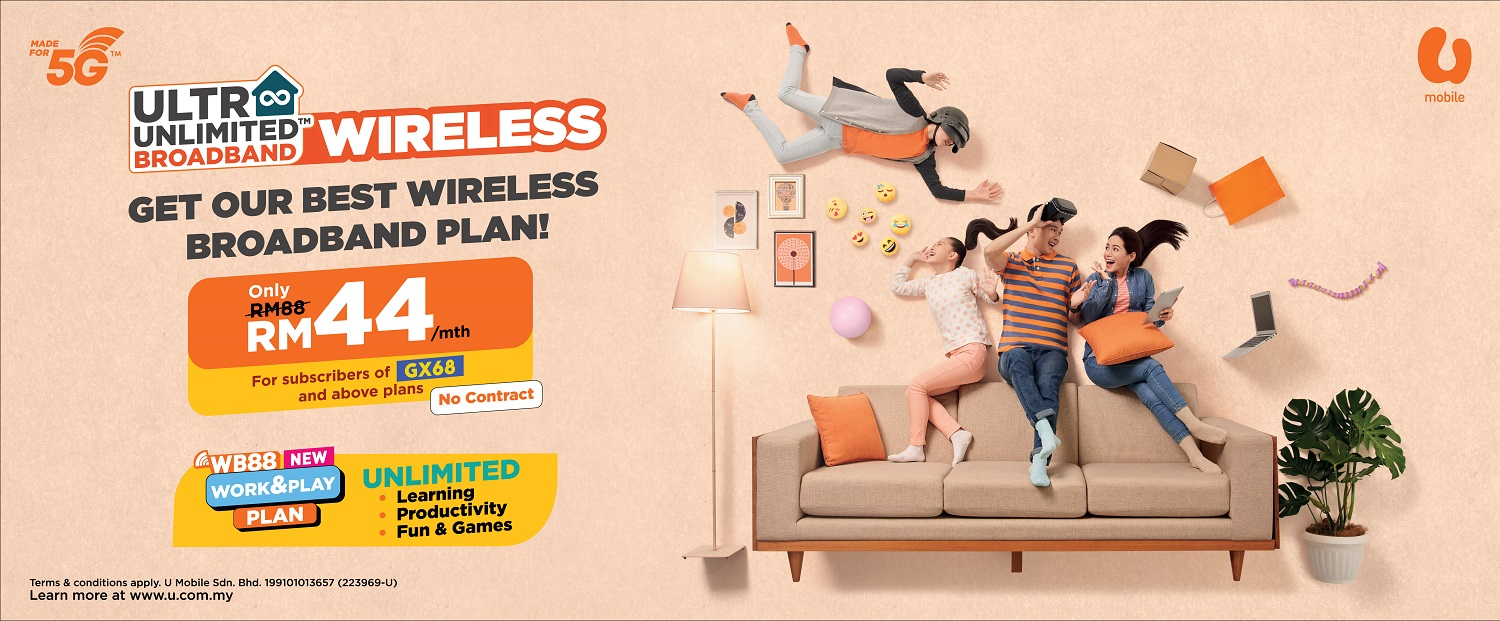 U Mobile Introduces Ultra Unlimited Wireless Broadband Plans From as Low as Rm48