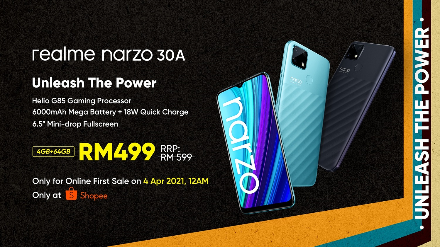 realme Narzo 30A Revealed Along With Three Gaming Accessories for Young Malaysian Mobile Gamers