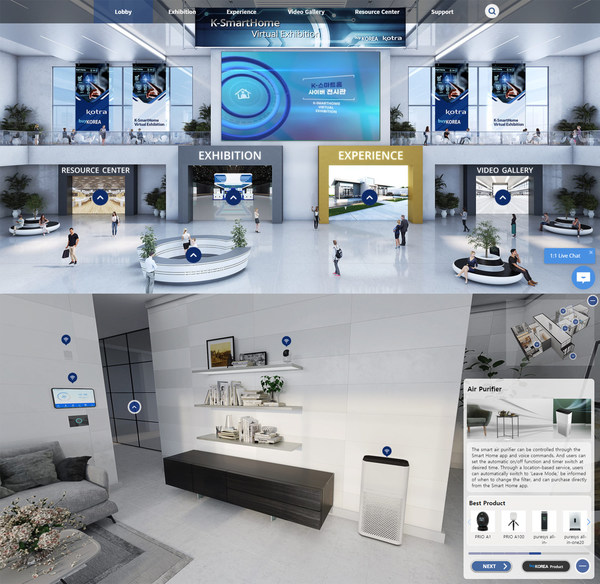 Ministry of Trade, Industry, and Energy - KOTRA Open the Nation's First 3D & VR Smart Home Cyber Exhibition