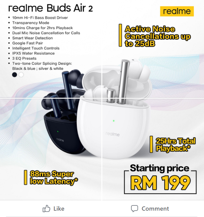 Starting 3rd April, Leap to Noise Off World With realme Buds Air 2 Only for Rm199