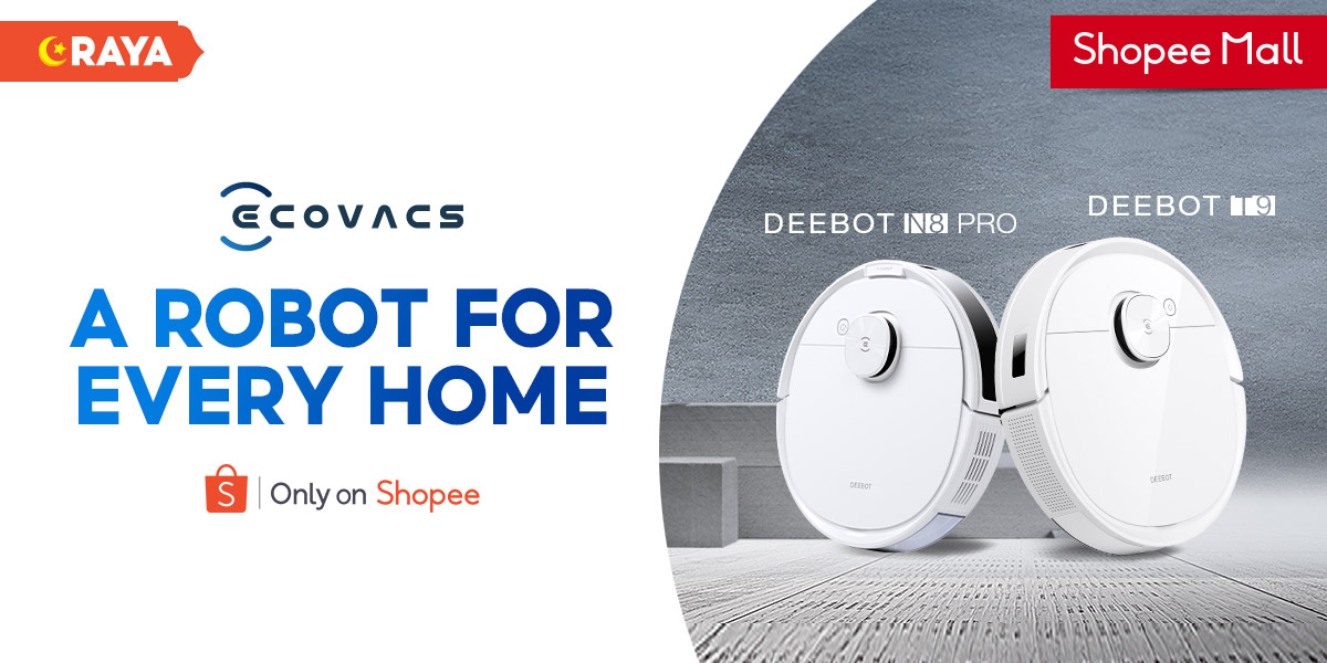 Discover smarter home cleaning with ECOVACS ROBOTICS on Shopee