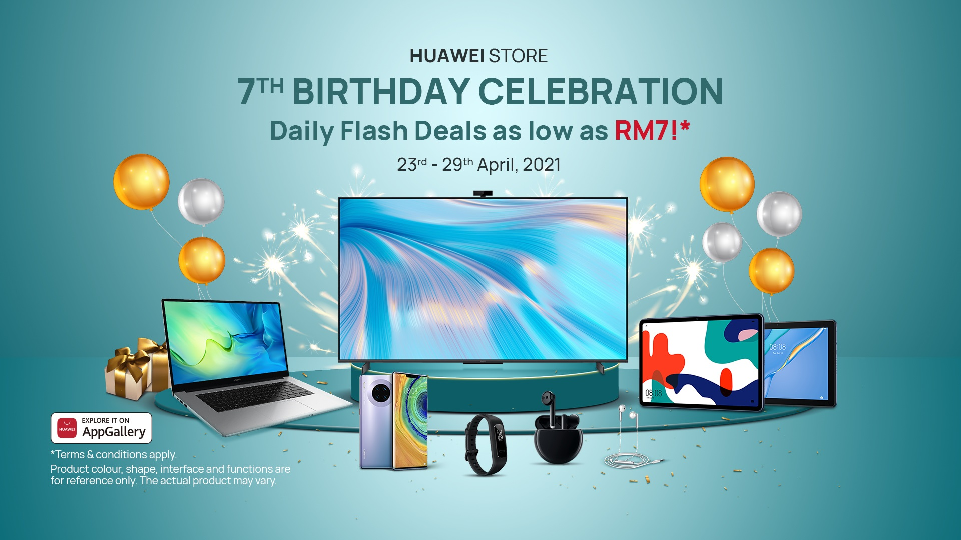 Celebrate Huawei Store Online's 7th Birthday With Deals as Low as RM7