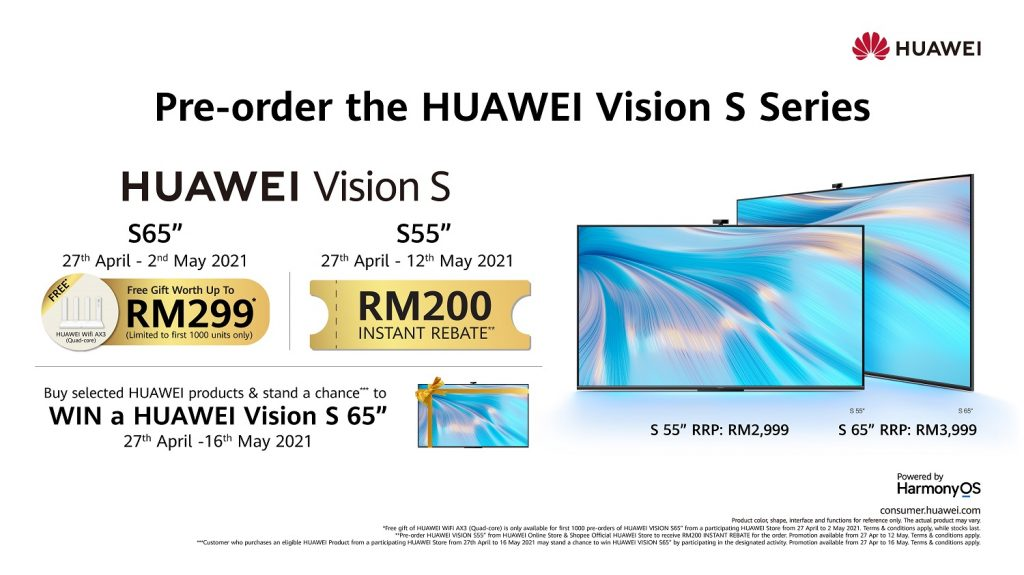 The All-New HUAWEI Vision S Series Officially Launched in Malaysia