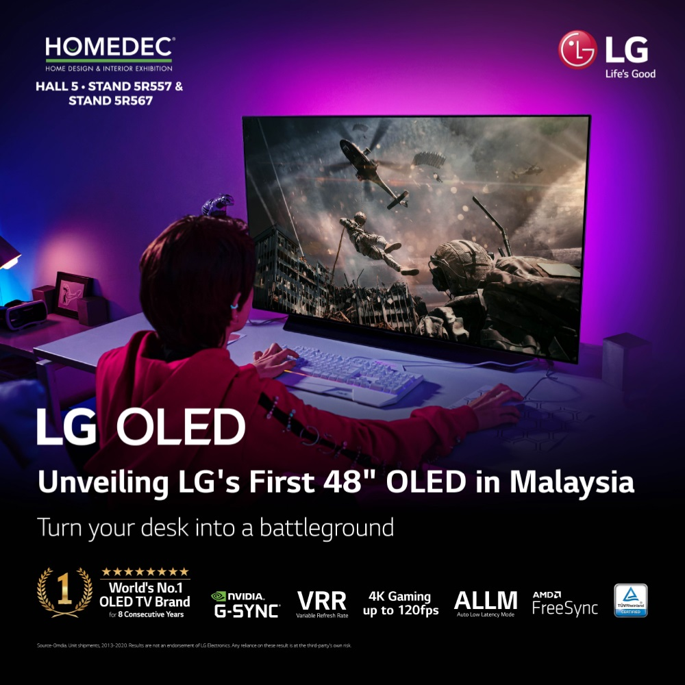"""First Ever 48"""" LG 4K OLED C1 TV Makes Its Way To Malaysian Shores"""