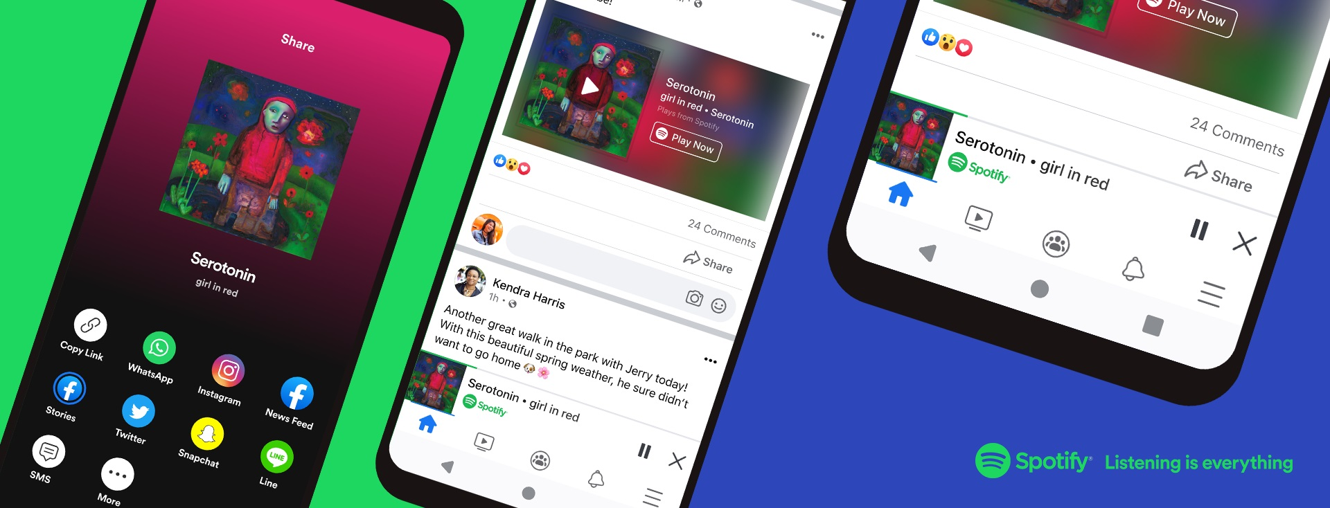 Experience Songs and Podcasts from Spotify Miniplayer Directly in Your Facebook App