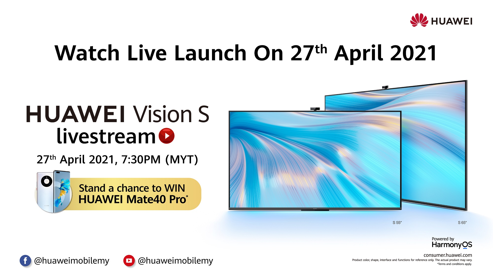 HUAWEI Vision S Series Set For Malaysian Debut, Tune Into The Online Livestream This 27 April