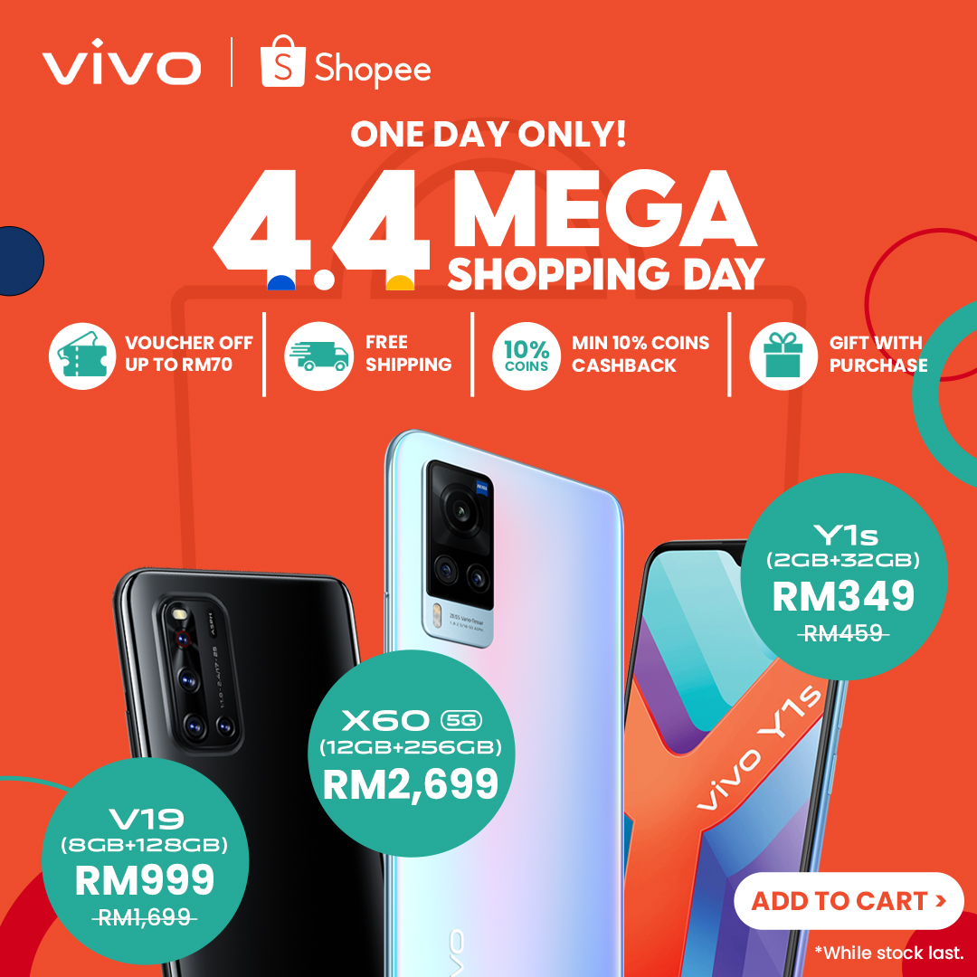 vivo Offers Limited-Time Promotions to Celebrate Shopee 4.4 Mega Shopping Day
