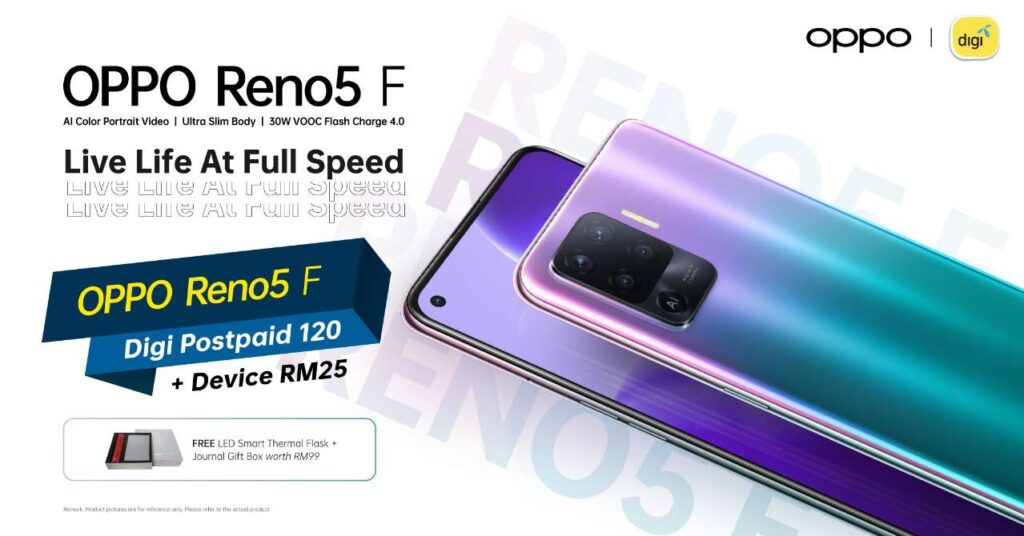 OPPO Reno5 F Now Available with More Package Options from Telcos