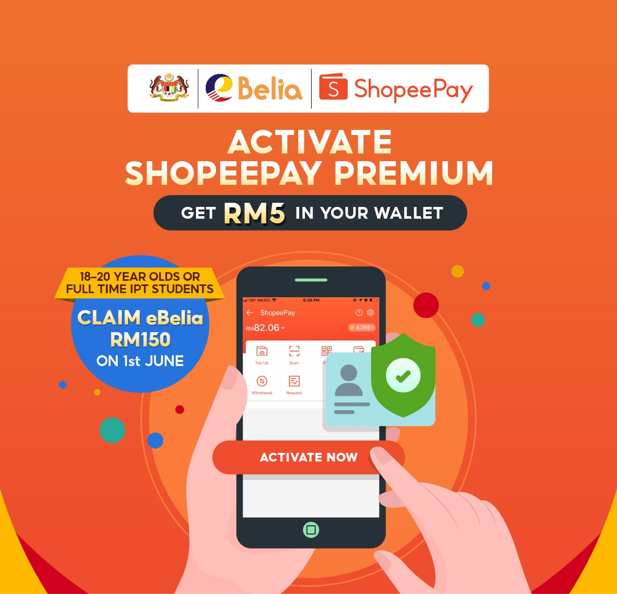 Calling All Youths: Activate ShopeePay Premium and Get RM5 Free Credit Now