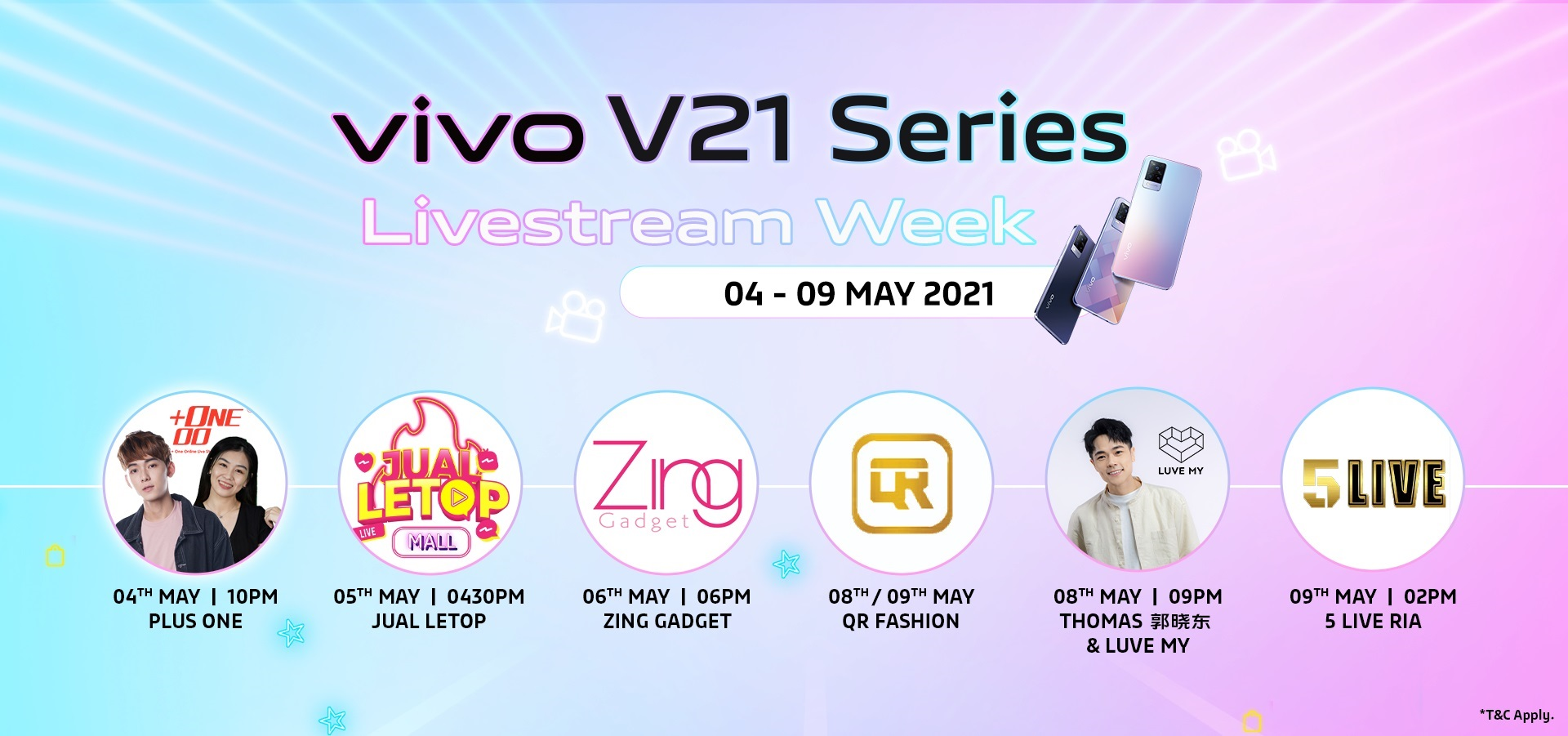 Exciting Giveaways During The Kickstart of vivo Malaysia latest V21 Series Livestream Week