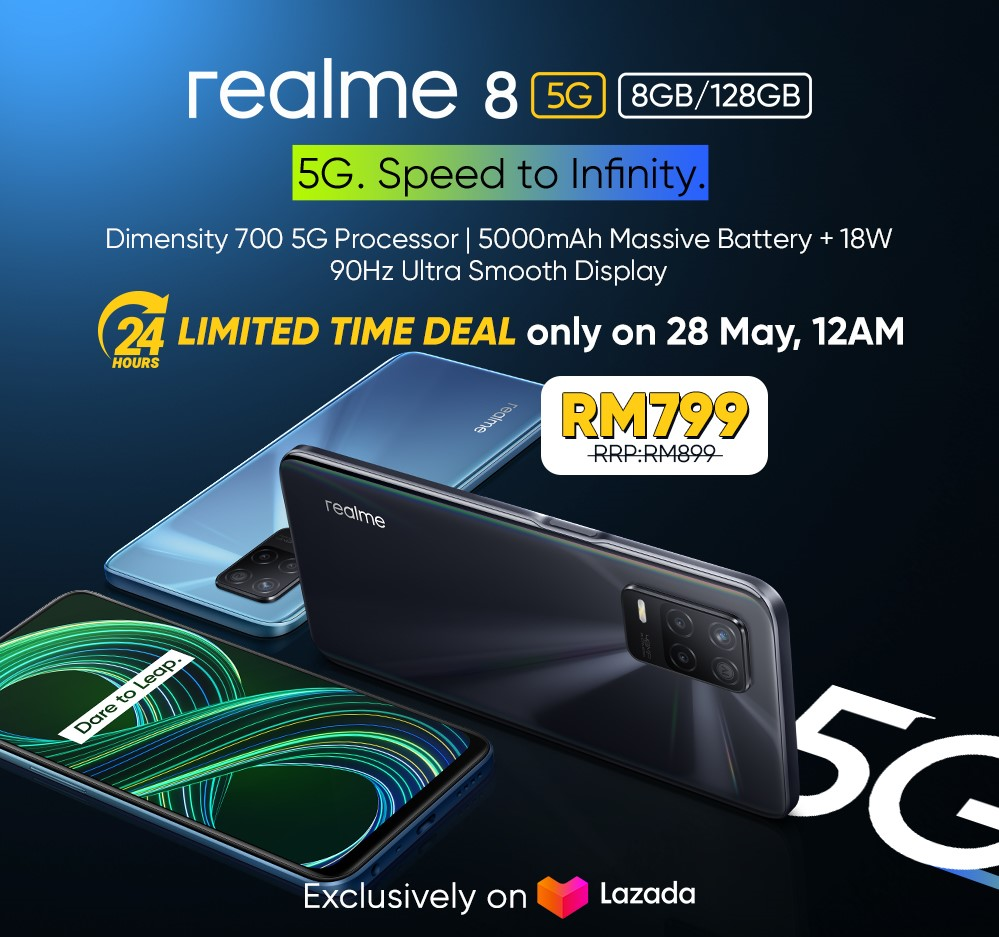 New realme 8 5G Comes With Dynamic RAM Expansion Technology to Increase Memory