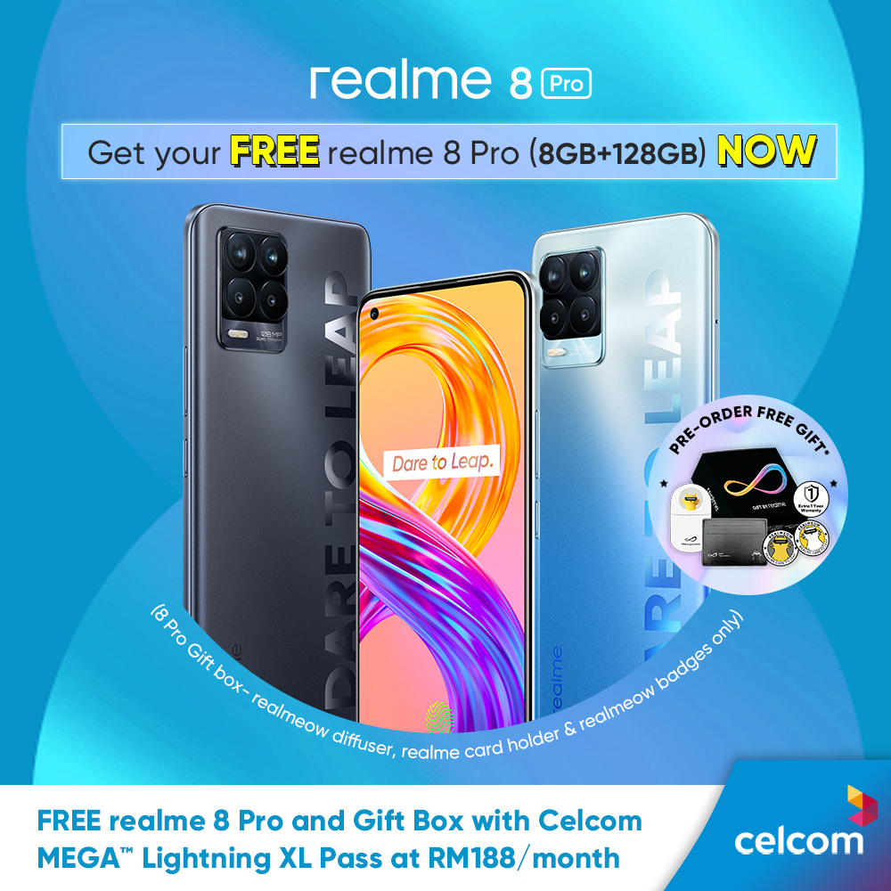 Get Free realme 8 Pro from Celcom and Enjoy Your Hari Raya Celebration