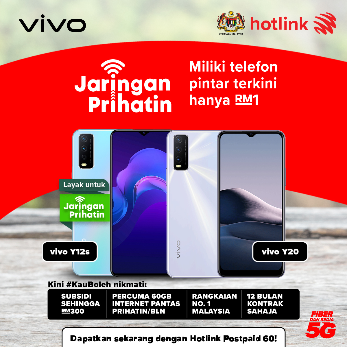 vivo Smartphones Are Now Available From as Low as RM1 Under Jaringan Prihatin