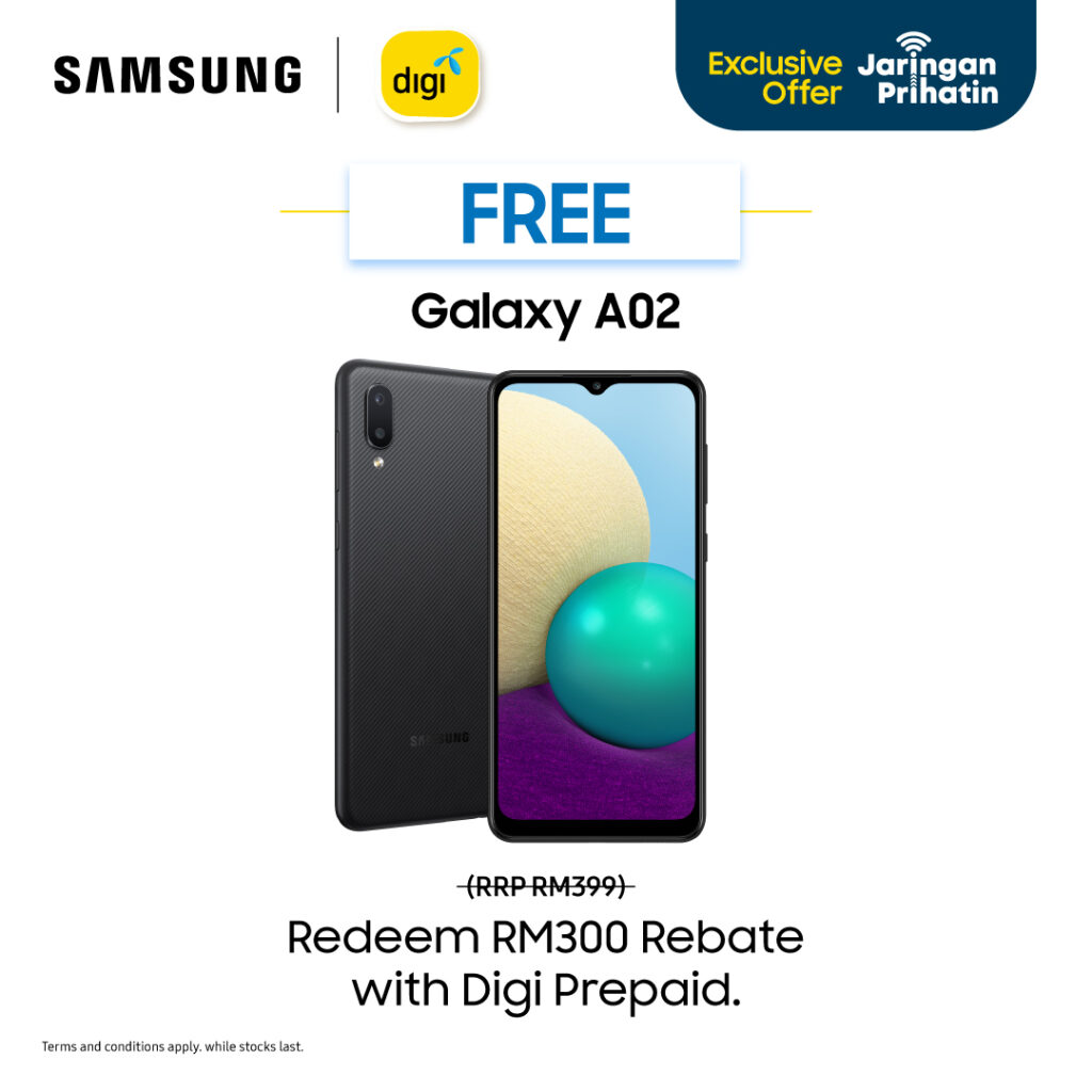 Get The Most Affordable Galaxy A02 & A02s With Digi Prihatin 35 Prepaid Bundle