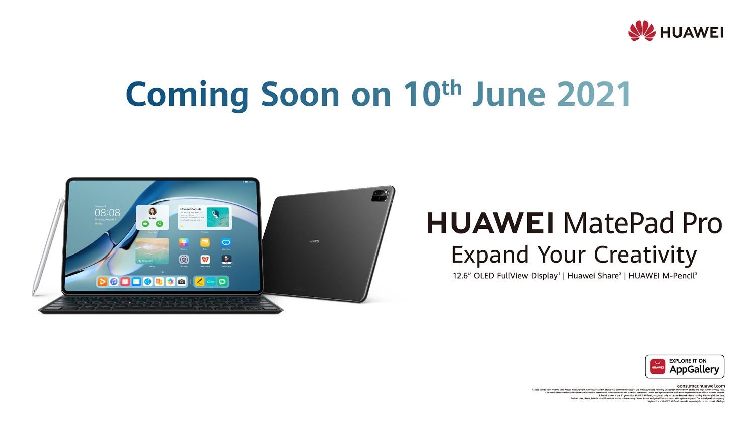 HUAWEI MatePad Pro to Launch on 10 June