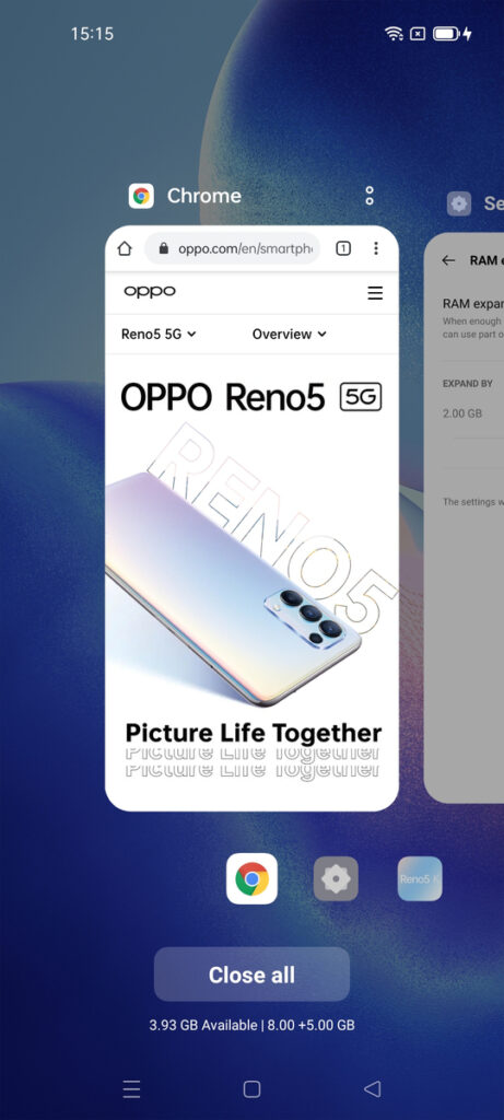OPPO Introduces Memory Expansion Technology for its Reno5 and A74 Series