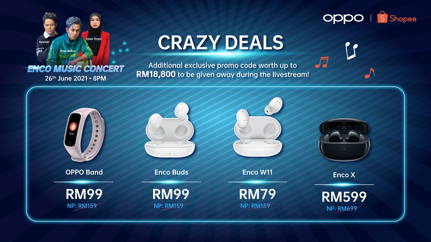 Join OPPO This Saturday Because The OPPO Enco Music Concert is Giving Away Exclusive Promo Codes