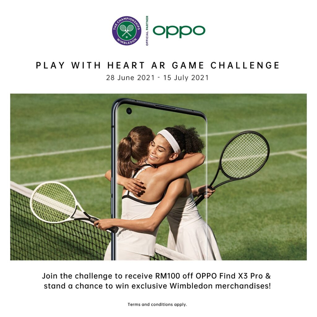 OPPO Launches #PlayWithHeart Campaign with Tennis-Themed Instagram AR Game