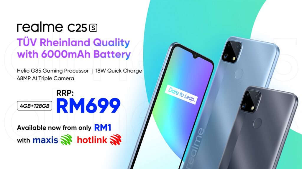 New realme C25s For Only RM1 On Maxis And Hotlink
