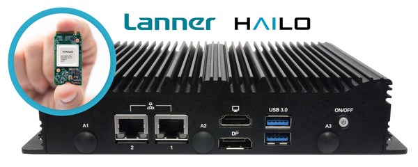 Lanner's LEC-7242 industrial wireless gateway, combined with the Hailo-8™ AI Acceleration Module, leads to solutions that process multiple video streams in real-time on a single device.