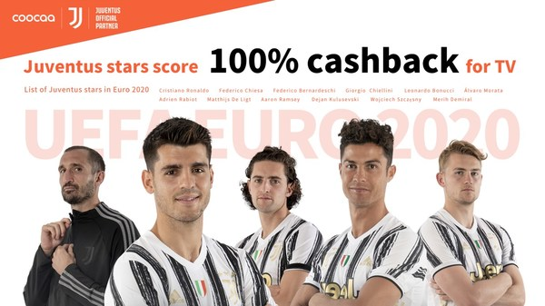 coocaa TV Announces: Juventus stars score 100% cashback for TV