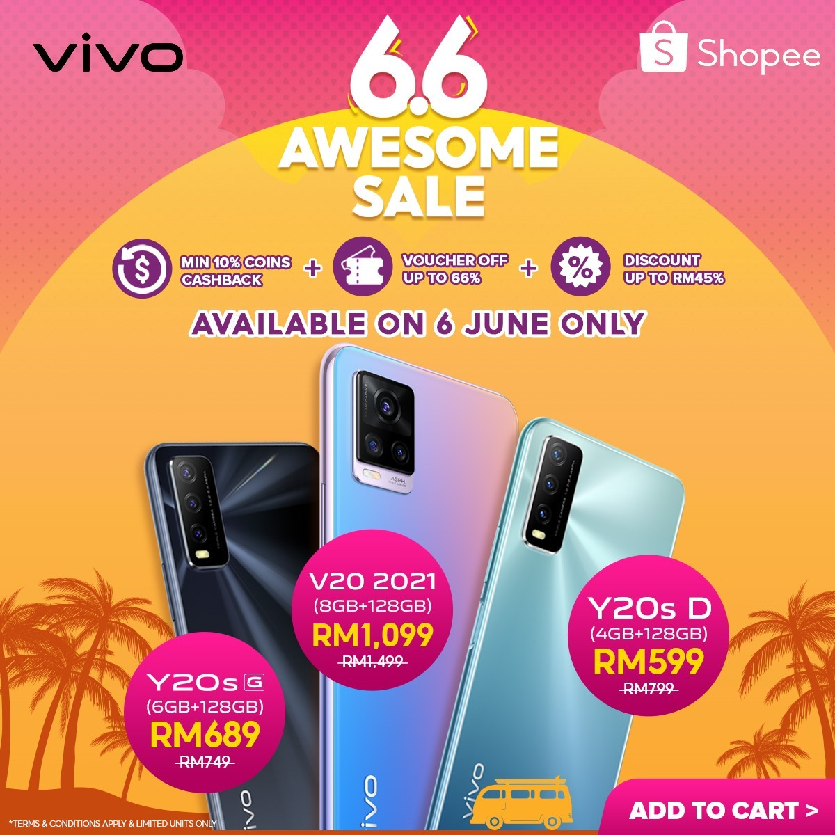 vivo x Shopee 6.6 Awesome Sale Offers Limited Time Great Deals on 6 June