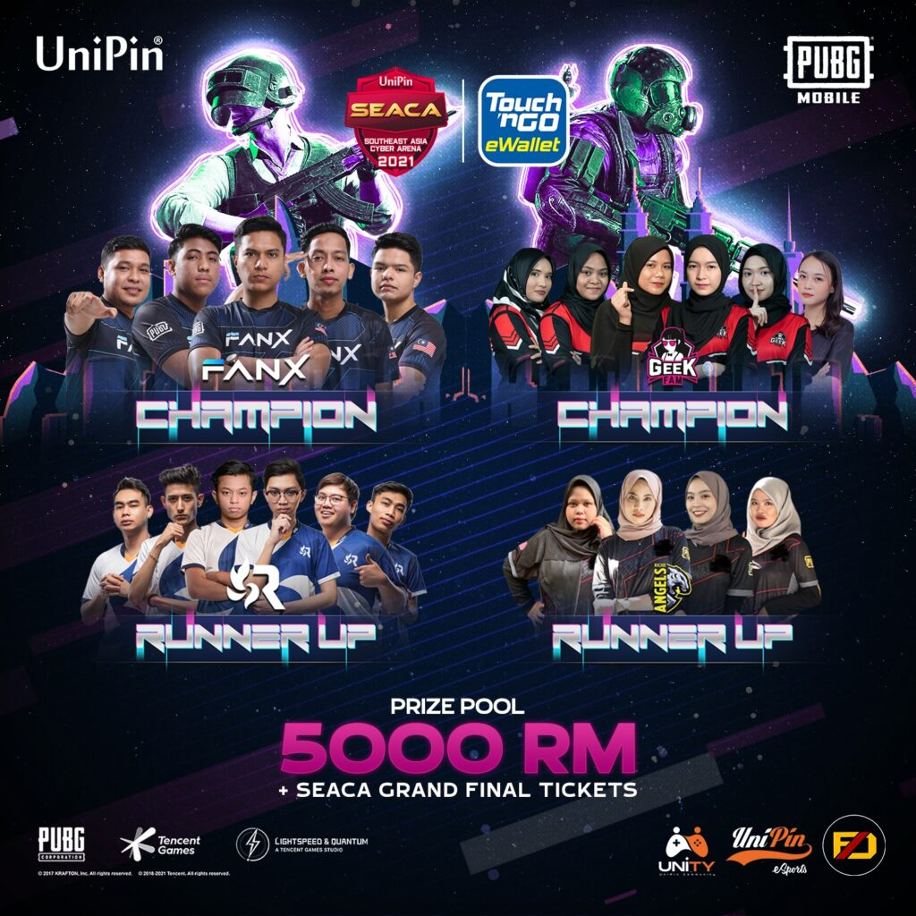 Four Top Malaysian Teams Will Compete in the UniPin SEACA 2021 Grand Final