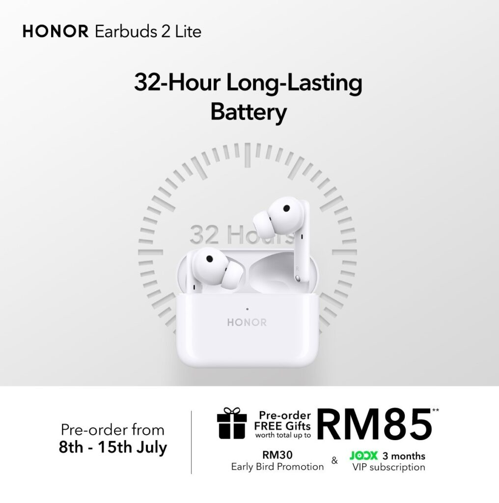 HONOR Earbuds 2 Lite is HONOR 50's Best Companion with 32-Hours Ultra Long Battery Life