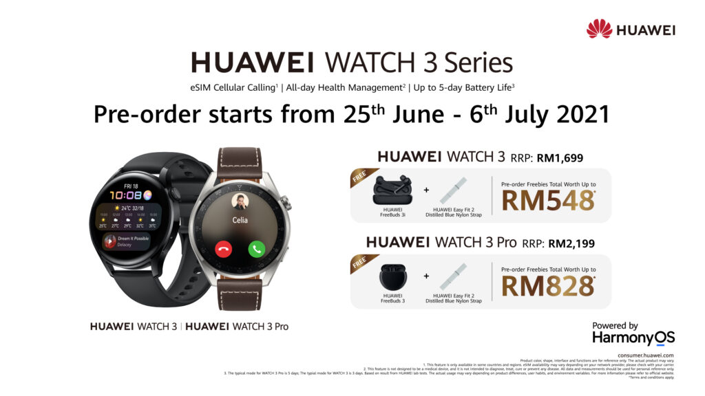 Last Call! Pre-Order the HUAWEI WATCH 3 With HarmonyOS 2 Now!