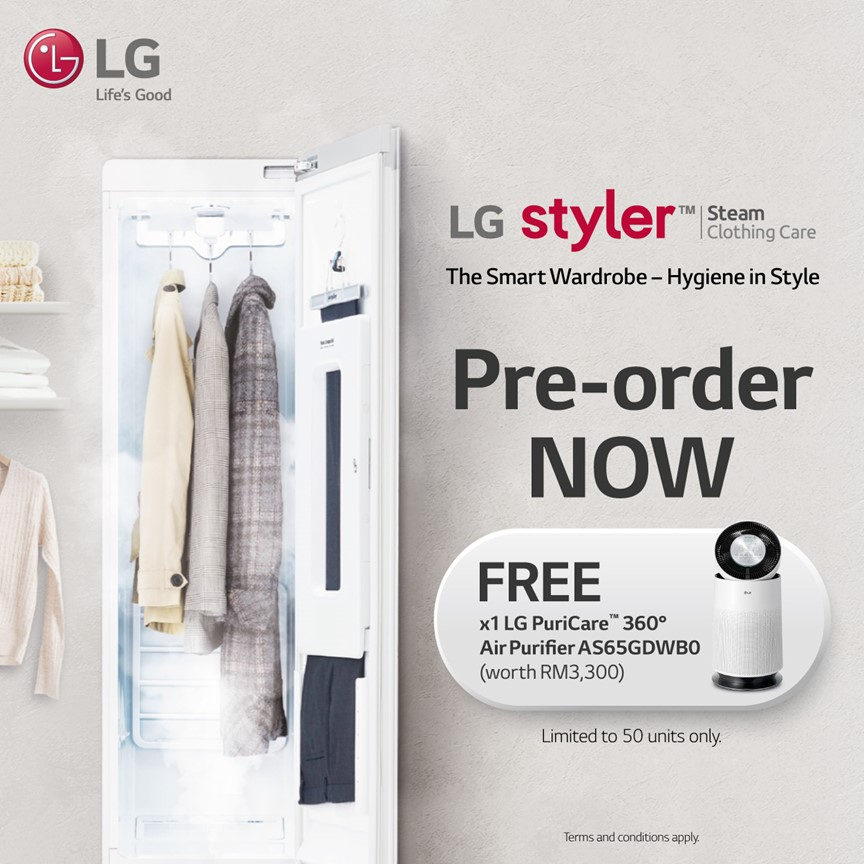 The LG Styler - Complete Clothing Hygiene and Care for Families in Malaysia Now Available for Pre-Order
