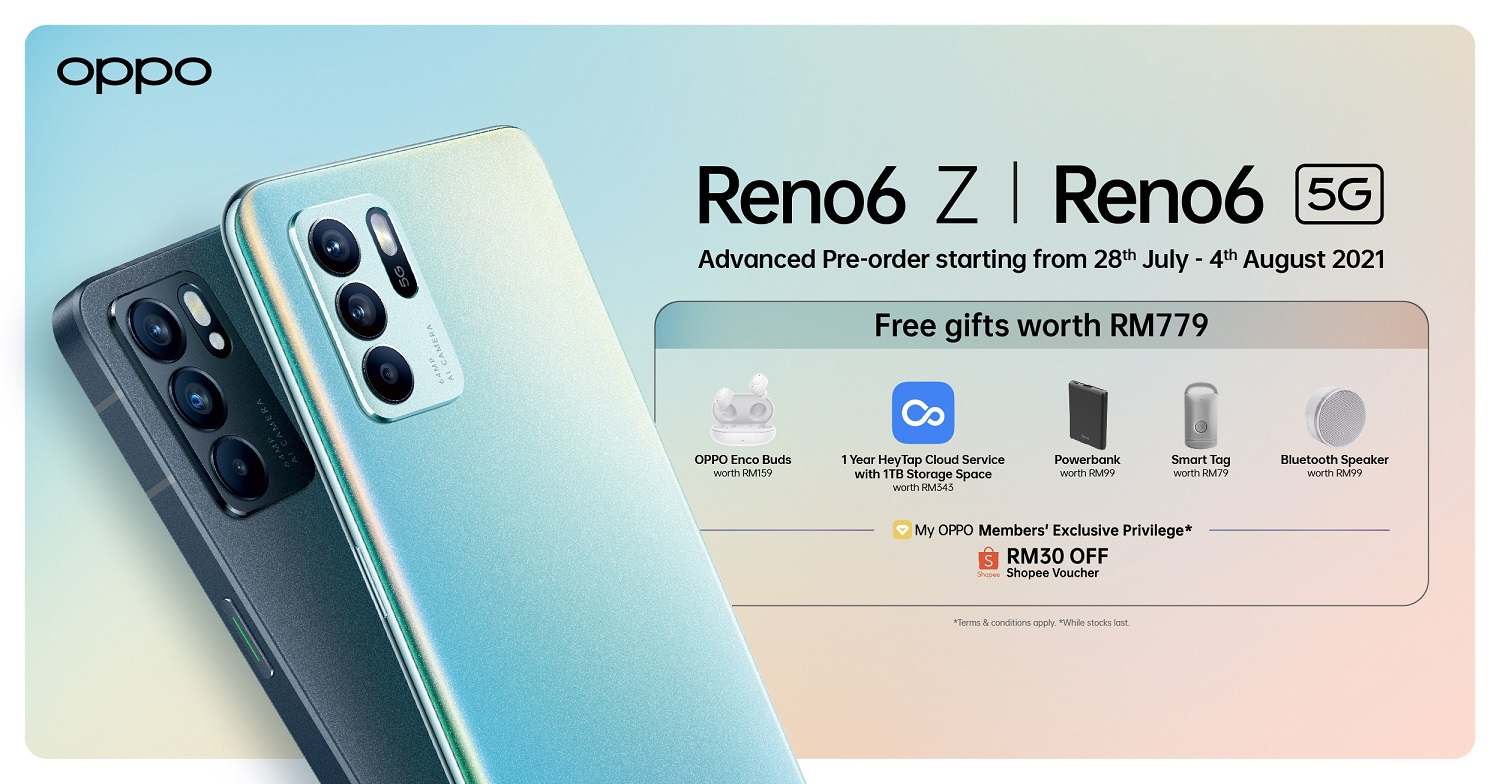 Pre-Orders for the OPPO Reno6 Series Now Open with Free Gifts Worth RM779