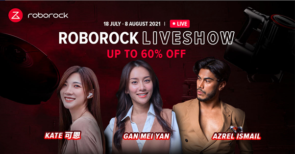 Roborock H7 - Offers Up to 60% Off on Roborock Live Show with Local Celebrities