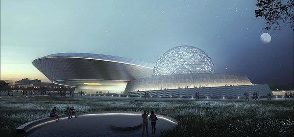 COSM COMPANIES EVANS & SUTHERLAND & SPITZ, INC. HELP POWER EXPERIENCE AT THE NEW SHANGHAI ASTRONOMY MUSEUM WITH INDUSTRY LEADING TECHNOLOGY, DESIGN, AND ENGINEERING EXPERTISE Photo courtesy of Ennead Architects