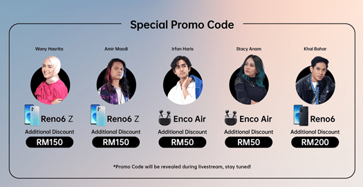 OPPO Kicks Off Reno6 Series First Sales with Portrait Carnival with Promo Codes and Giveaways