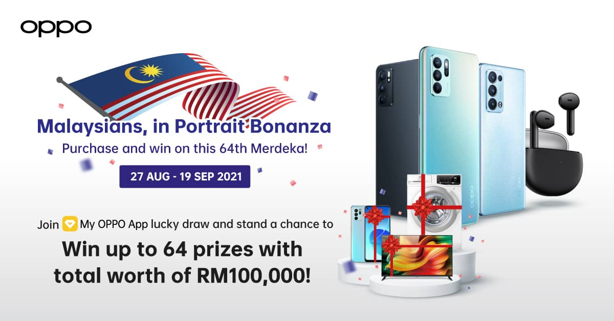 'Malaysians, in Portrait Bonanza' by OPPO Captures the 64th Merdeka Spirit with 64 Prizes up for Grabs