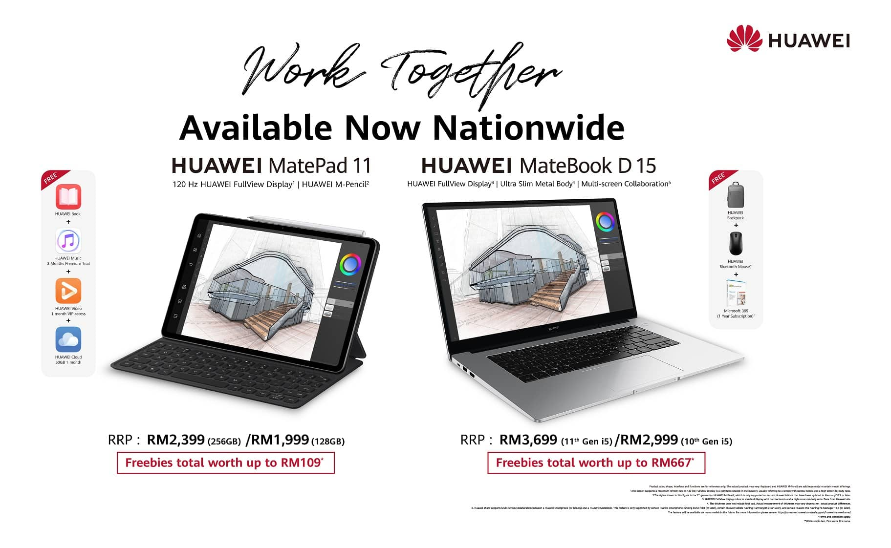 It's Finally Here! Get The HUAWEI MatePad 11 And HUAWEI MateBook D15 Today