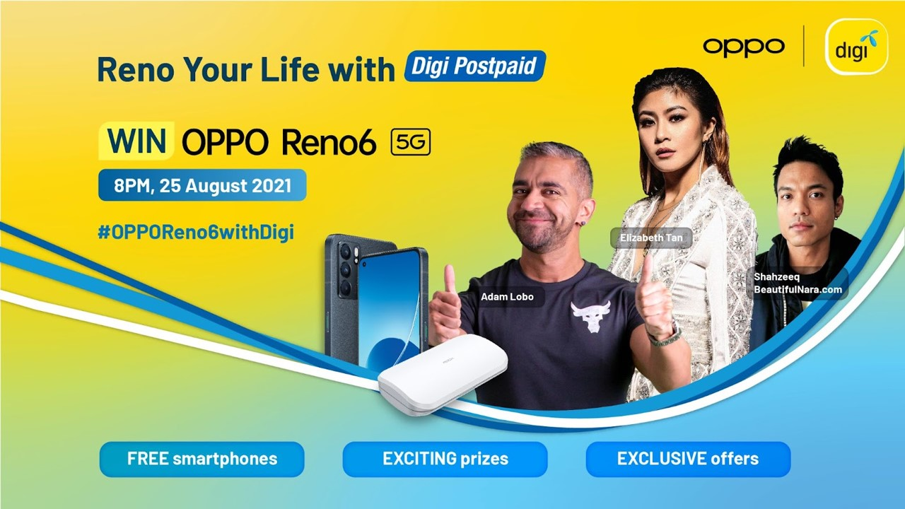 Reno Your Life to Win a Brand New OPPO Reno6 5G and More